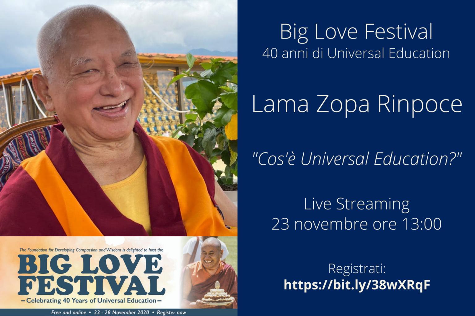 Big Love Festival – 40 anni di Universal Education